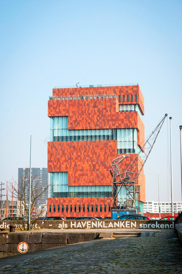 博物馆aan der Stroom,安特卫普,比利时 库存照片