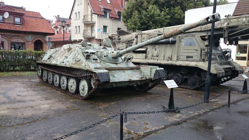 博物馆KoÅ 'obrzeg Polen asu Panzer 免版税库存图片