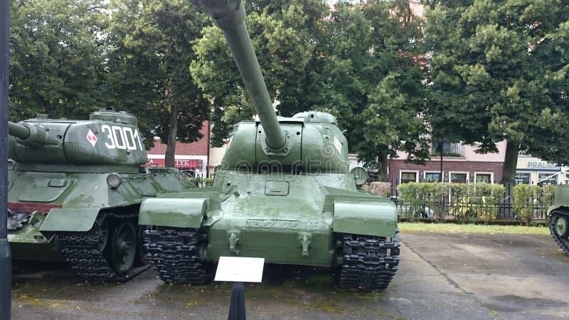 博物馆KoÅ 'obrzeg Polen Panzer苏联 免版税图库摄影