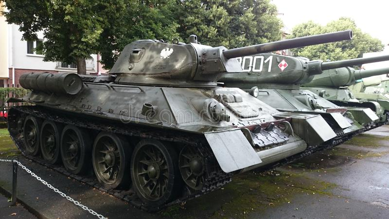 博物馆KoÅ 'obrzeg Polen Panzer苏联 免版税库存图片