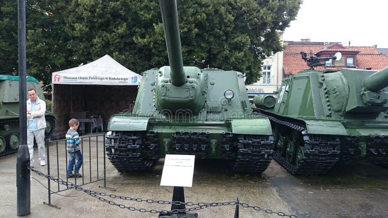 博物馆KoÅ 'obrzeg Polen Panzer苏联 图库摄影