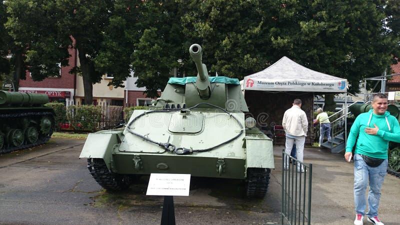 博物馆KoÅ 'obrzeg Polen Panzer苏联 库存图片