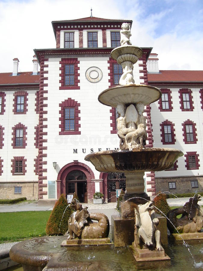 博物馆Schloss Elisabethenburg迈宁根 免版税库存图片