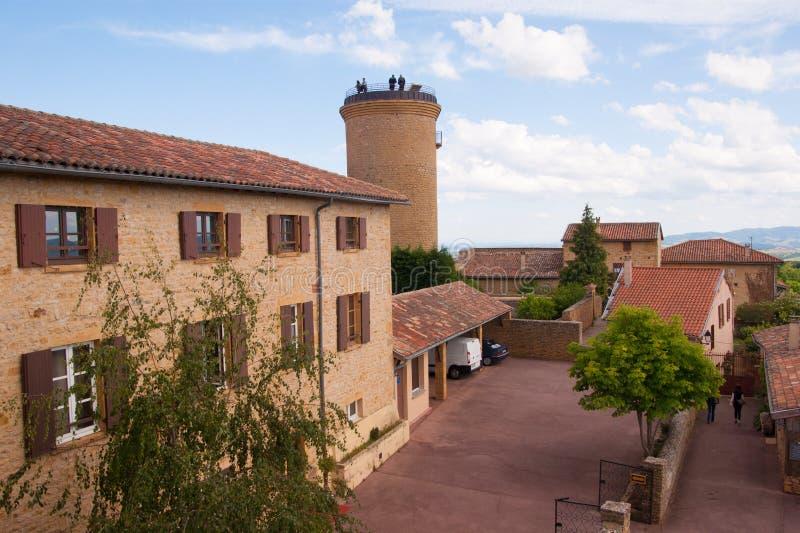 博若莱红葡萄酒皮埃尔oree,罗讷,法国 免版税库存图片