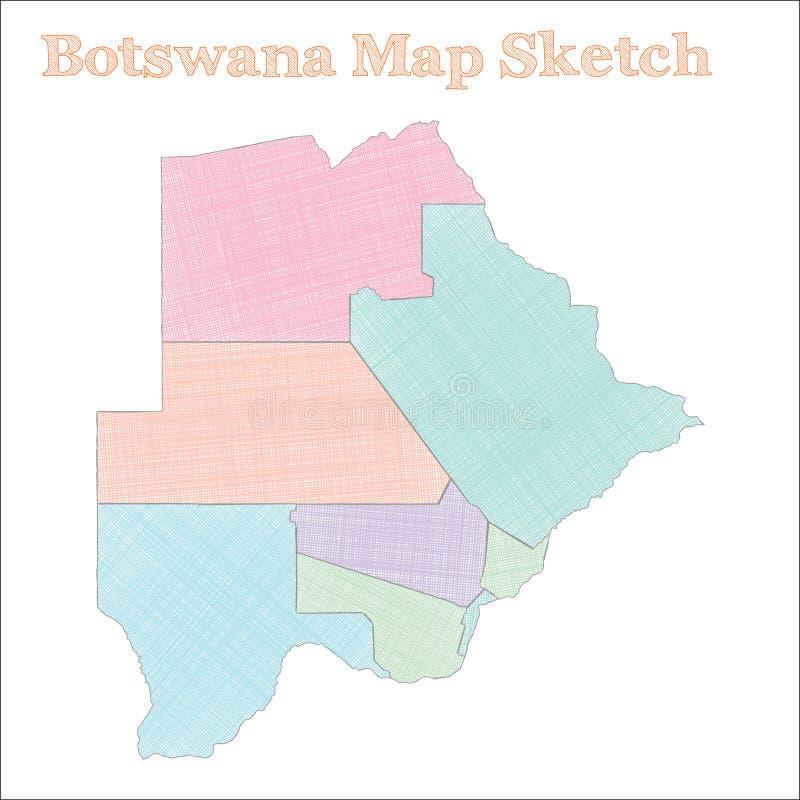 博茨瓦纳地图 向量例证