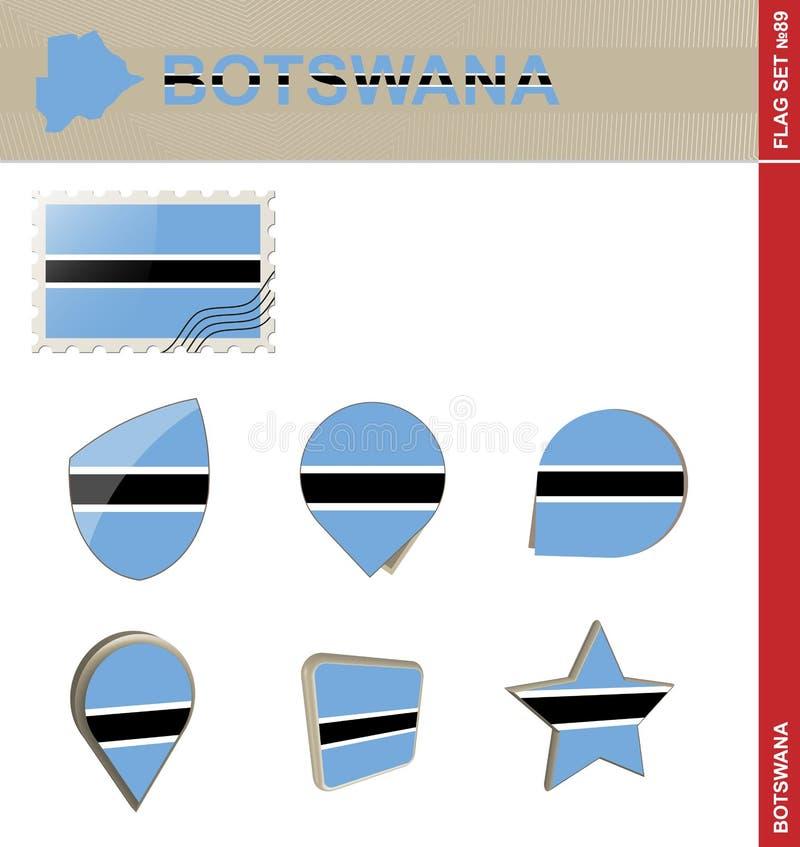 博茨瓦纳旗子集合,旗子集合#89 皇族释放例证