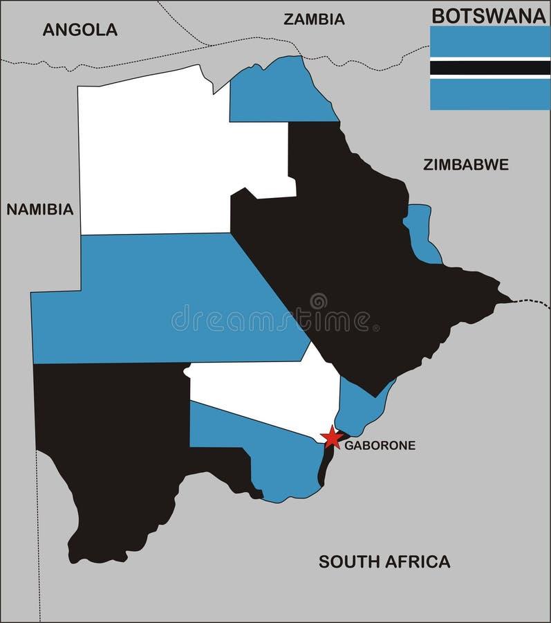 博茨瓦纳映射 皇族释放例证