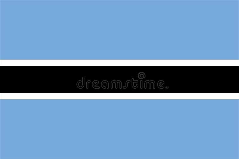 博茨瓦纳标志 皇族释放例证