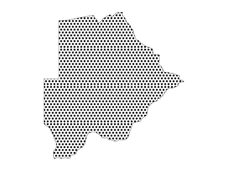 博茨瓦纳的光点图形地图 皇族释放例证