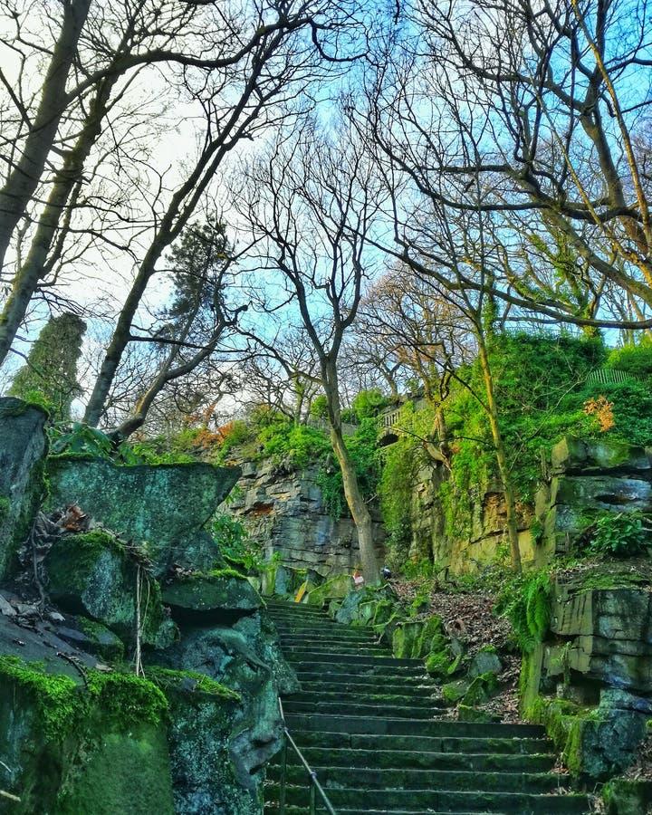 博蒙特公园在哈德斯菲尔德,英国 免版税库存照片