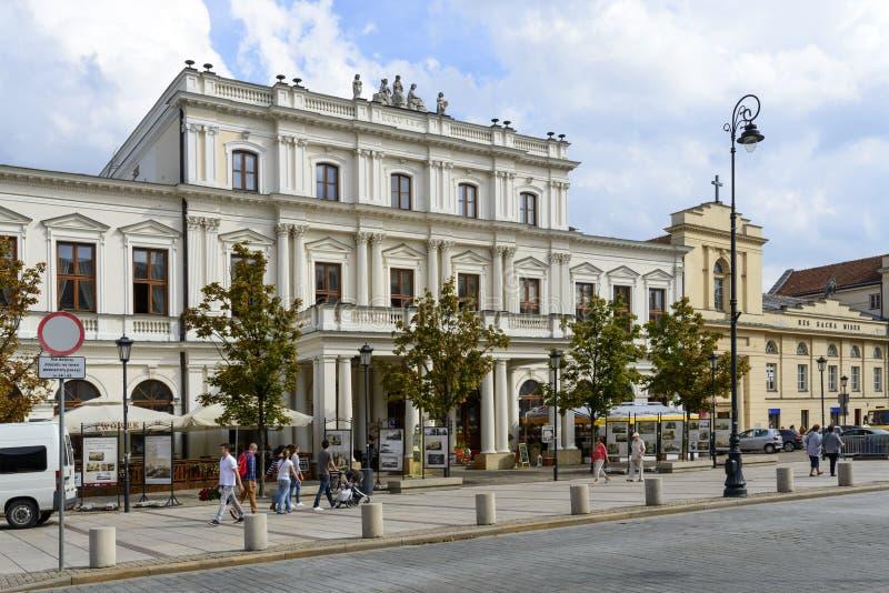博洛尼亚议院在华沙 库存图片