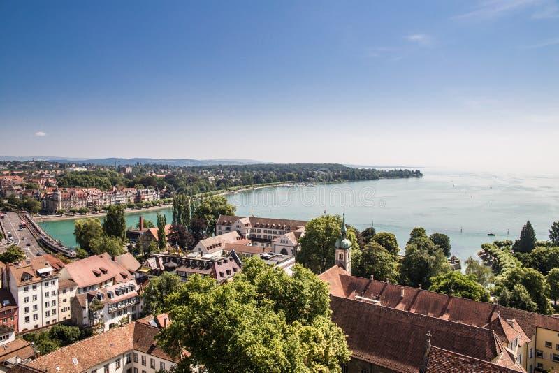 博登湖,德国-瑞士 库存照片