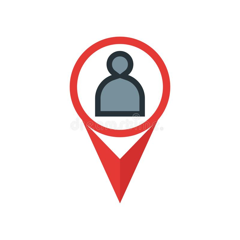 占位符象在白色背景和标志隔绝的传染媒介标志,占位符商标概念 向量例证