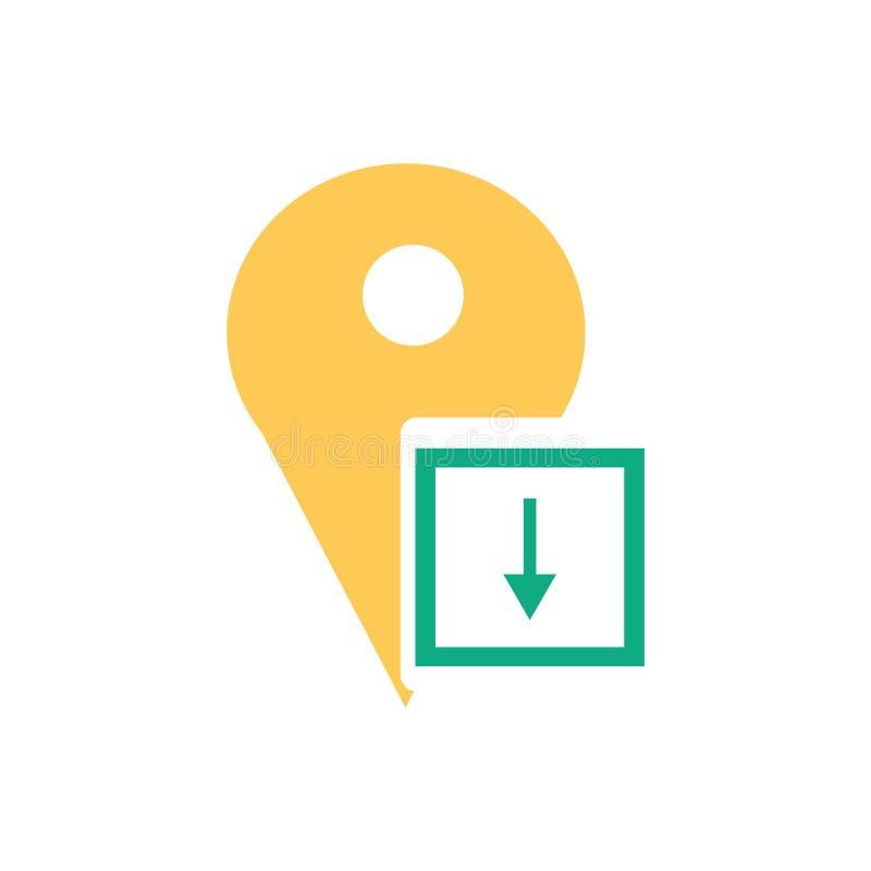 占位符象在白色背景和标志隔绝的传染媒介标志,占位符商标概念 库存例证