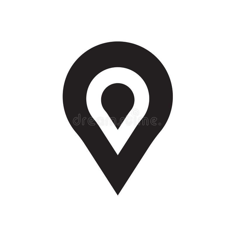 占位符象在白色背景和标志隔绝的传染媒介标志 皇族释放例证