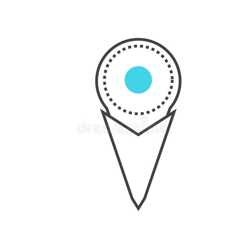 占位符象在白色backgr和标志隔绝的传染媒介标志 向量例证
