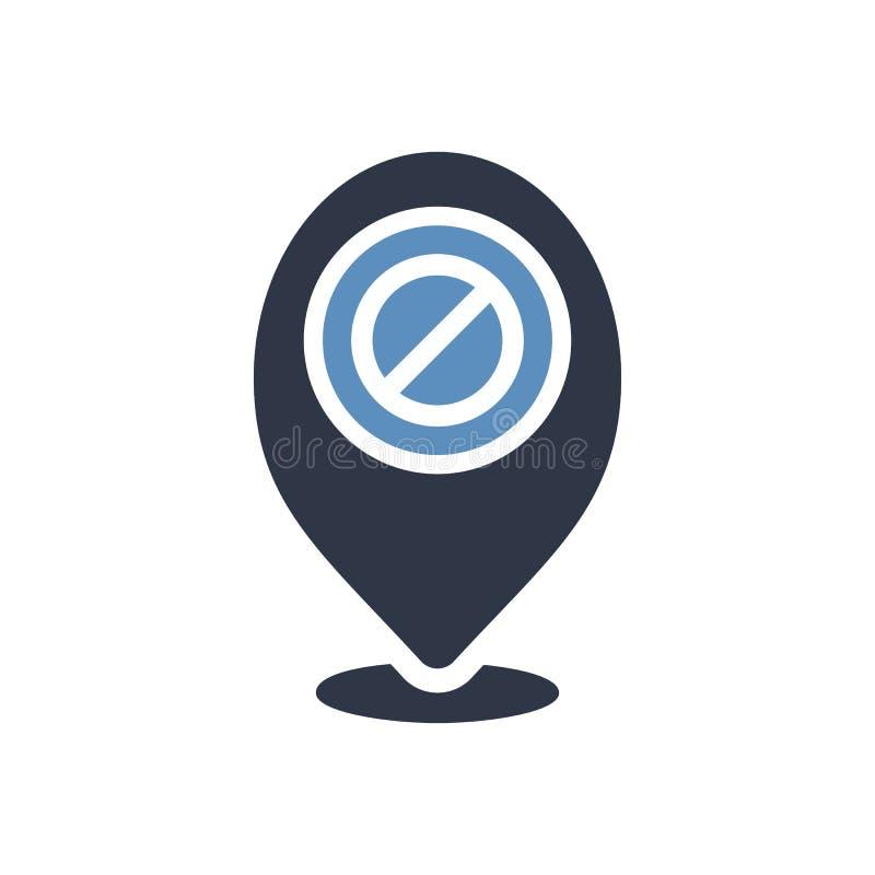 占位符象,与不允许的标志的标志象 占位符象和块,禁止,禁止标志 向量例证