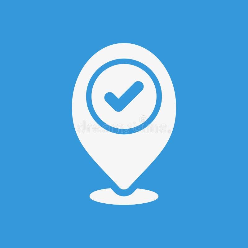 占位符象,与检查标志的标志象 占位符象和批准,证实,做,壁虱,完整标志 库存例证
