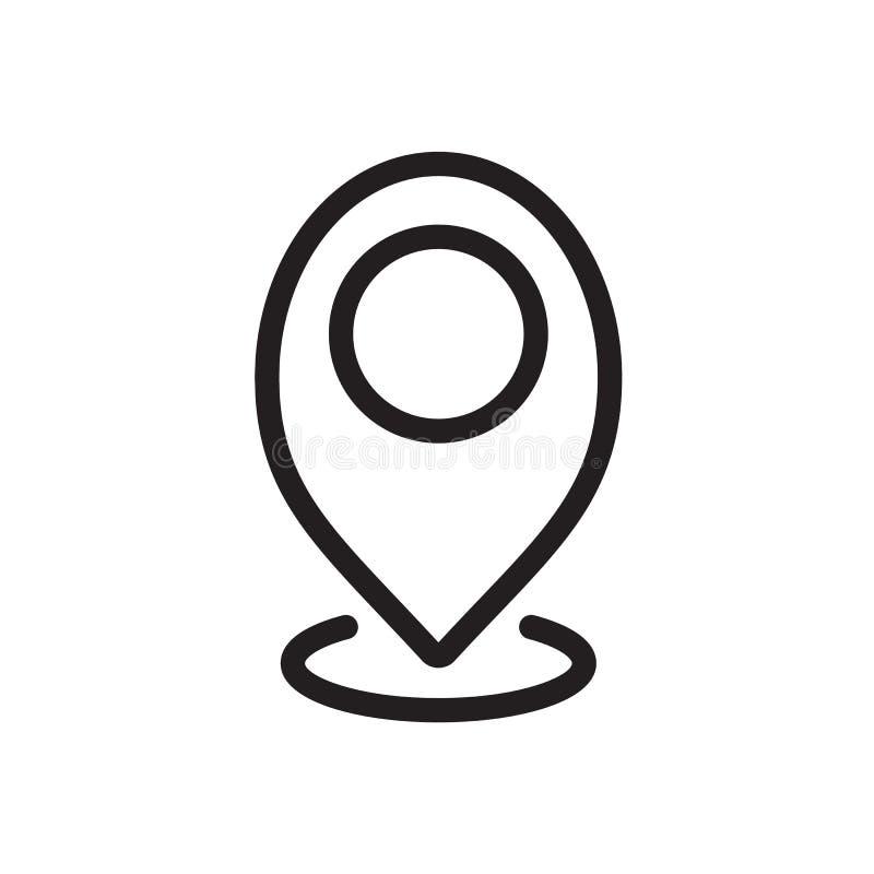 占位符象,标志象 概述大胆,重线型, 4px冲程更圆的边缘 库存例证