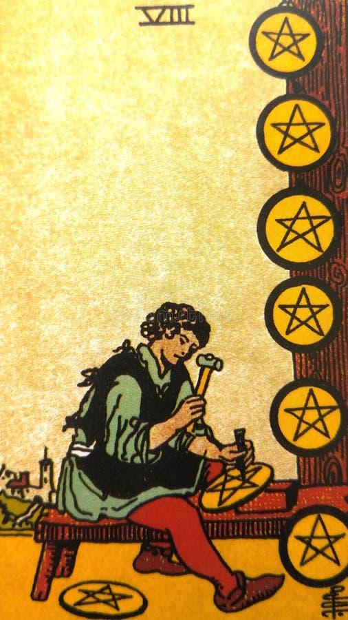 占卜用的纸牌占卜隐密魔术 库存例证