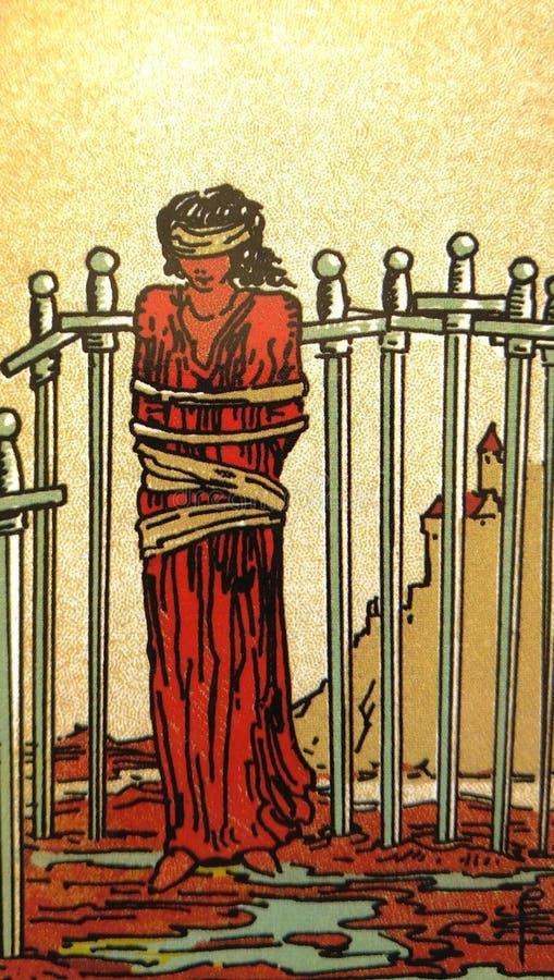 占卜用的纸牌占卜隐密魔术 皇族释放例证