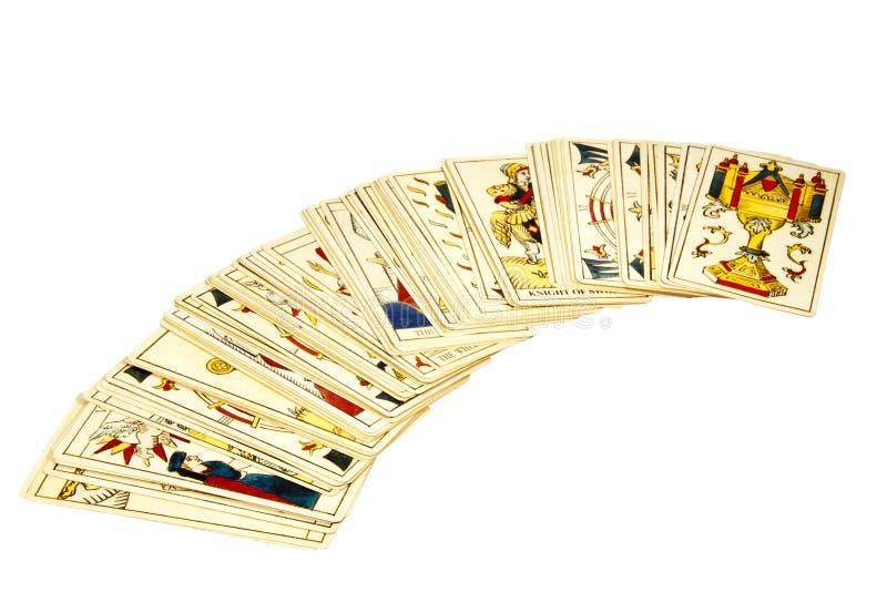 占卜用的纸牌甲板算命的 免版税库存照片