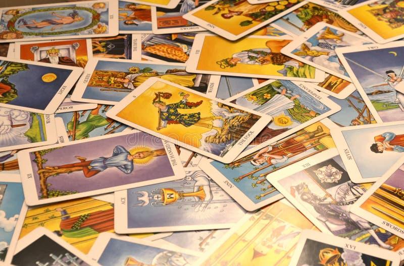 占卜用的纸牌78张卡片倍数卡片 免版税库存图片