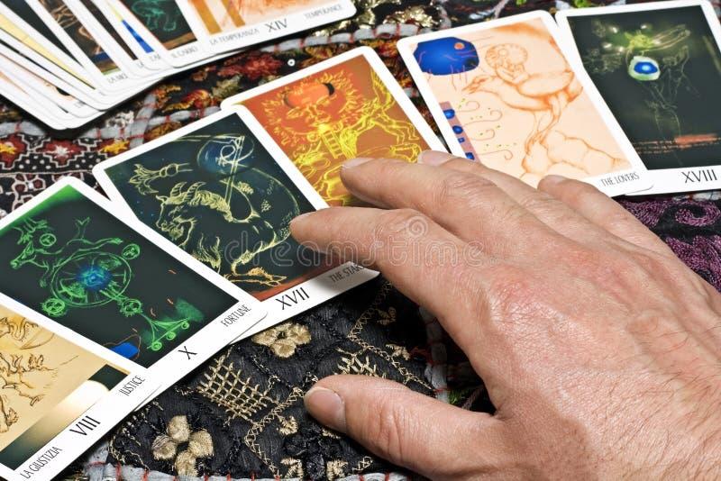 占卜用的纸牌 库存图片
