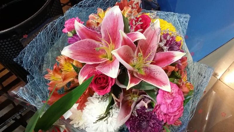 占星师玫瑰色花束 库存图片