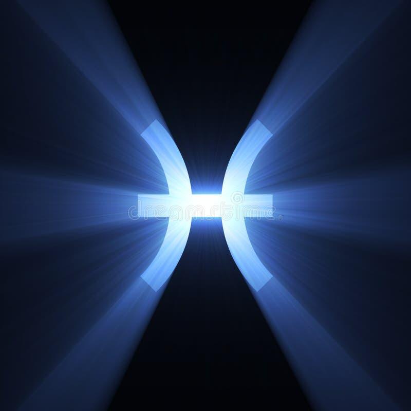 占星术光晕双鱼座空间符号 皇族释放例证