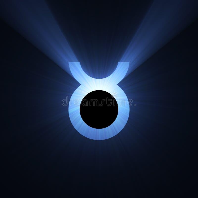 占星术光晕空间符号金牛座 皇族释放例证