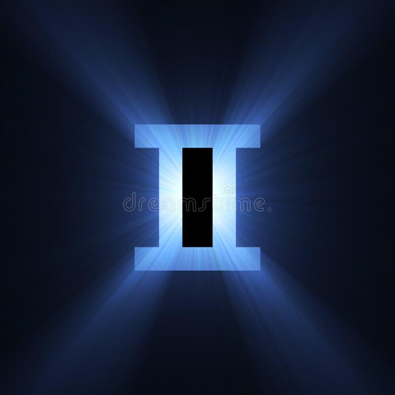 占星术双子星座光晕空间符号 皇族释放例证
