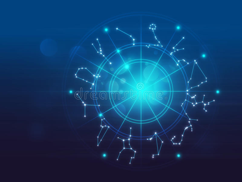 占星术和方术标志背景例证 向量例证