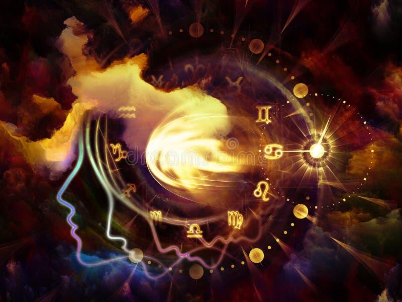 占星术外形 向量例证