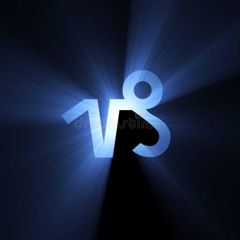 占星术山羊座光晕空间符号 库存例证