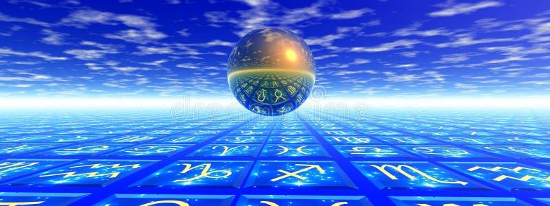 占星术概念 向量例证