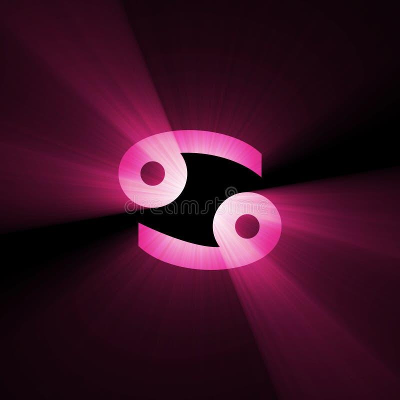 占星术癌症火光光符号 库存例证