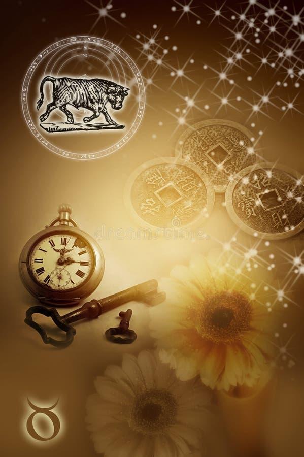 占星术符号金牛座 库存例证