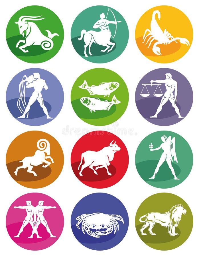 占星术符号黄道带 向量例证