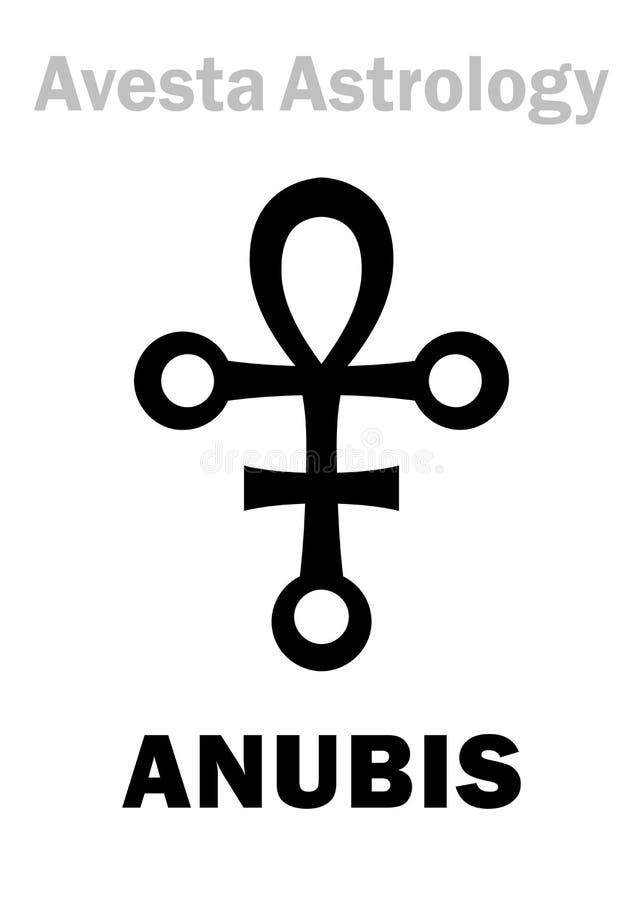 占星术:星行星ANUBIS 向量例证