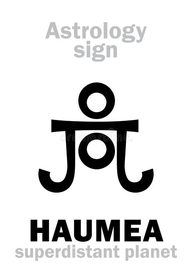 占星术:行星HAUMEA 向量例证