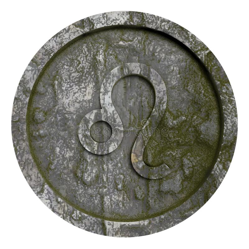 占星标志利奥 向量例证