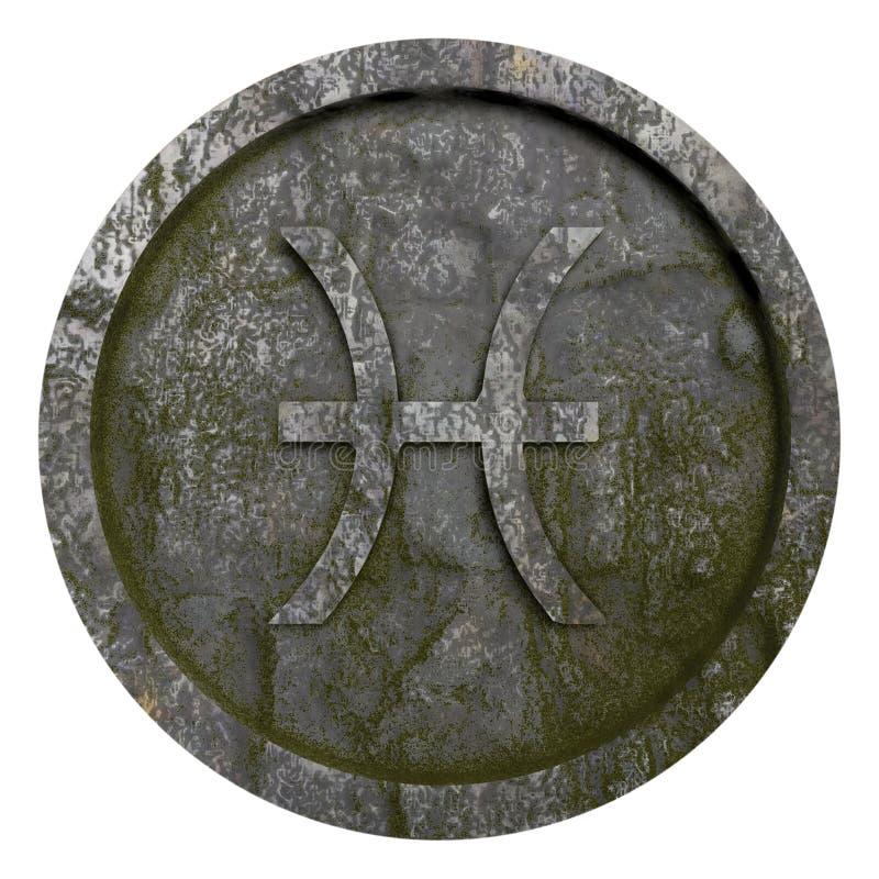 占星标志双鱼座 免版税库存照片