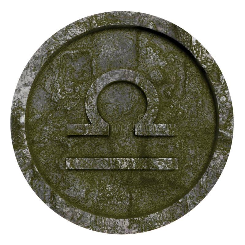 占星标志天秤座 库存例证
