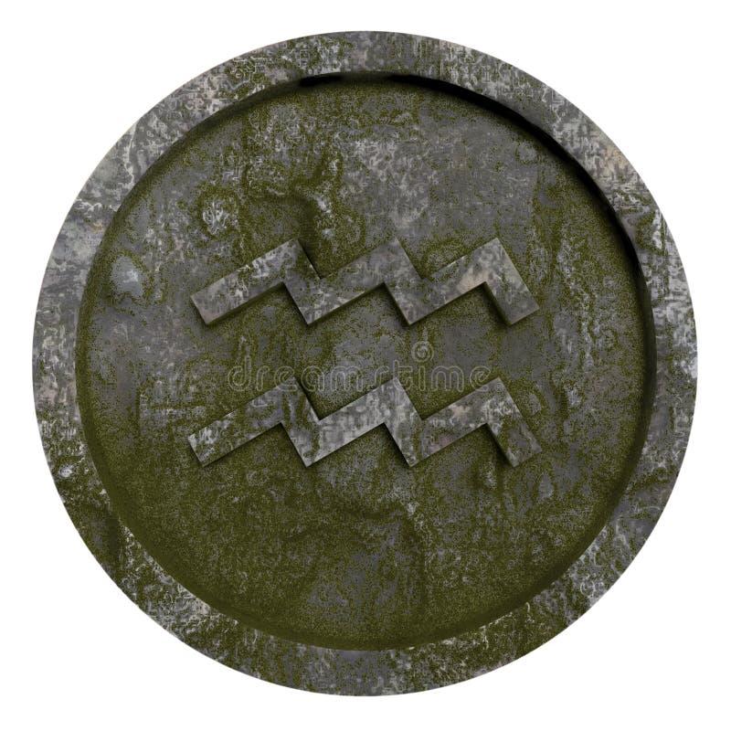 占星标志宝瓶星座 免版税库存照片