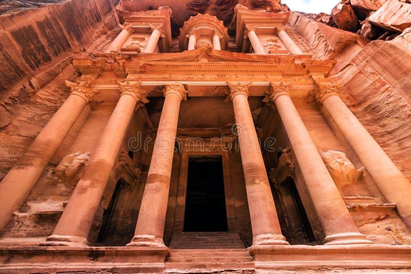 卡兹尼神殿在Petra的财宝 库存图片