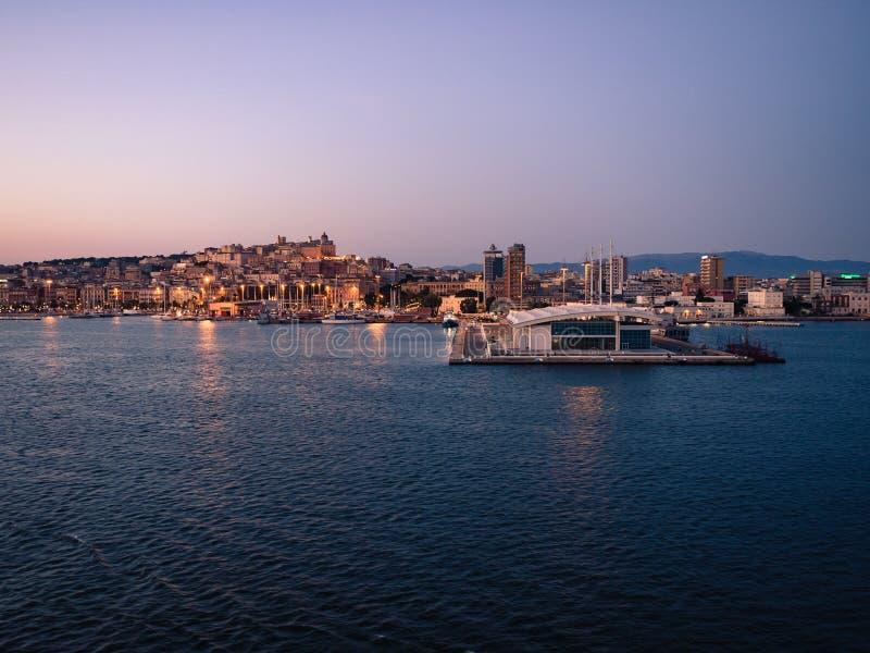卡利亚里,撒丁岛,意大利看法  免版税库存图片