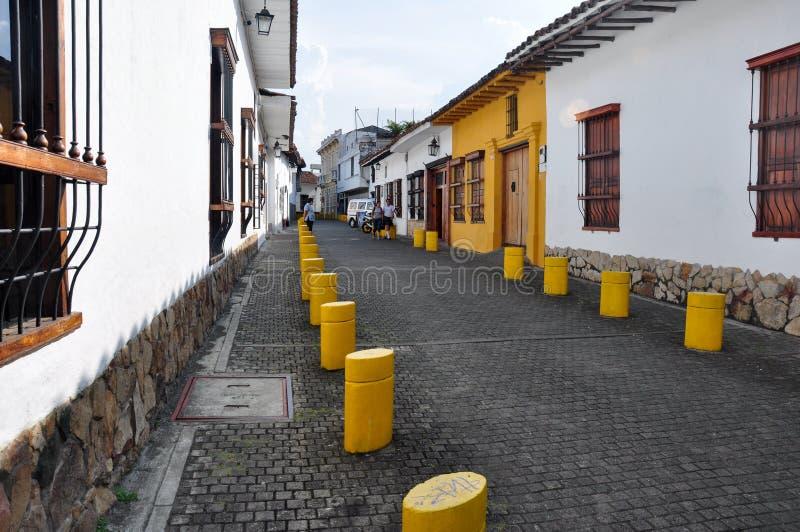 卡利街道,在哥伦比亚 库存图片