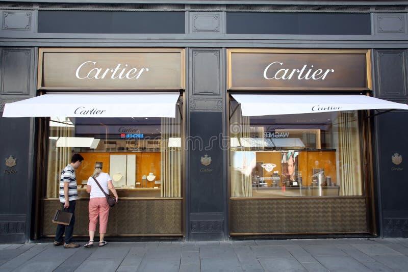卡地亚珠宝商在维也纳,奥地利 免版税库存图片