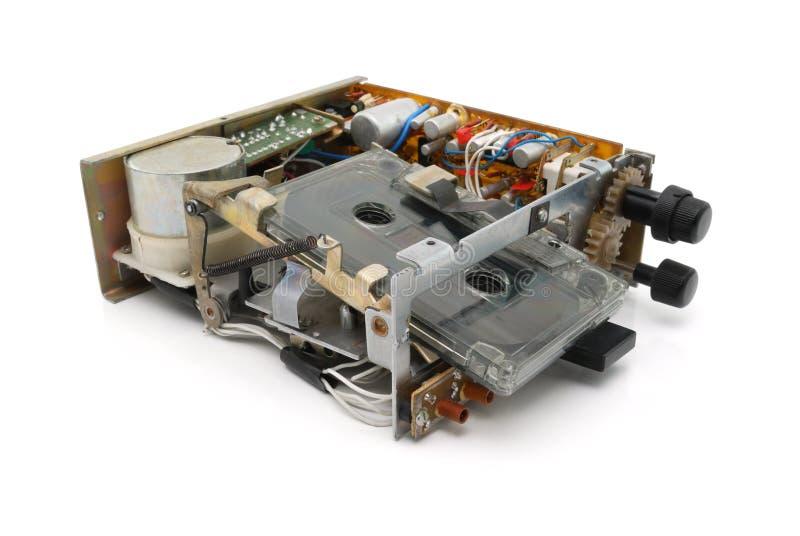 卡型盒式录音机甲板 库存图片